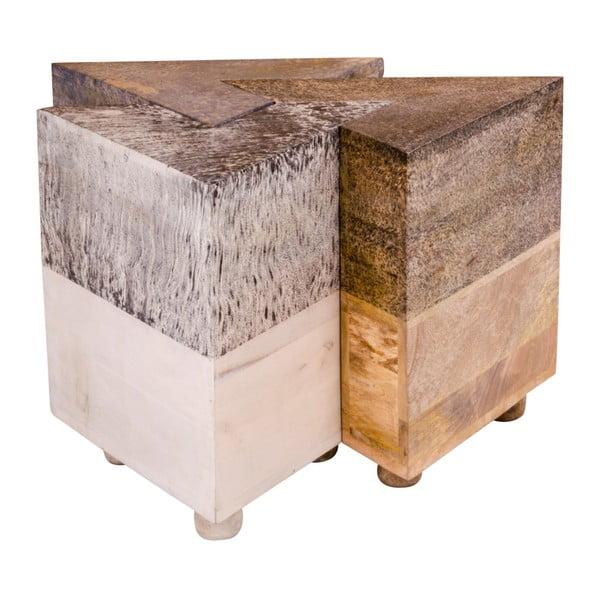 Stolik z drewna mangowego House Nordic Mumbai Triange