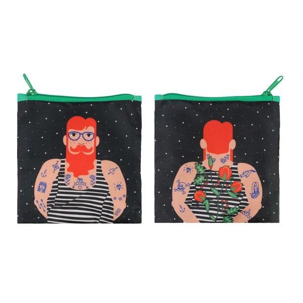 Składana torba na zakupy Smoking Beard by Cristina Caramida