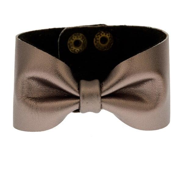 Skórzana bransoletka Bow Grey