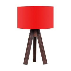 Lampa stołowa z czerwonym abażurem Kate Louise Kahve