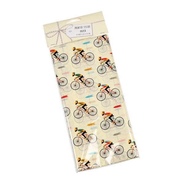 Zestaw 10 chusteczek z papieru bibułkowego Rex London Le Bicycle