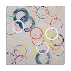 Obraz ręcznie malowany Mauro Ferretti Round, 80x80cm