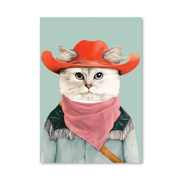 """Plakat """"Rodeo Cat"""", 30x42 cm"""