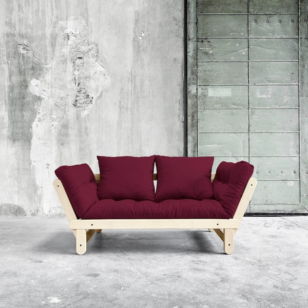 Sofa rozkładana Karup Beat Natural/Bordeaux