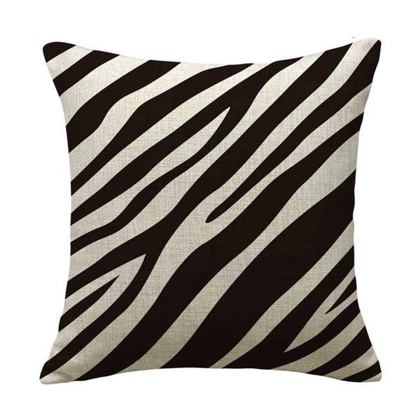 Poszewka na poduszkę Animal Zebra, 45x45 cm