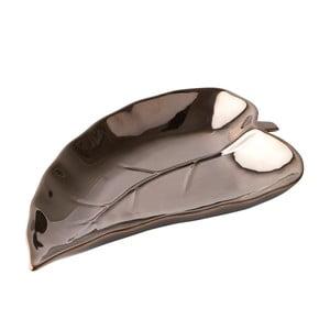Dekoracyjna taca na świeczki Bronze Leaf