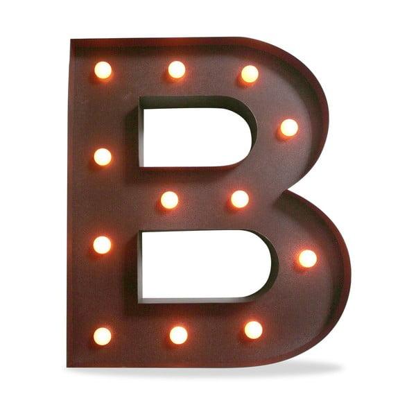 Świecąca dekoracja LED Letter B