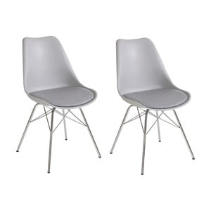Zestaw 2 szarych krzeseł Støraa Jenny