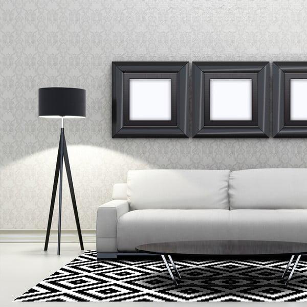 Wytrzymały dywan winylowy Black and White, 140x200 cm