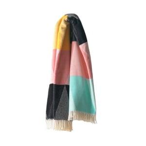 Kolorowy koc z dodatkiem bawełny Euromant Pastelino, 140x180cm