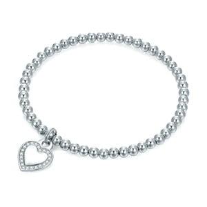 Damska bransoletka w kolorze srebra z sercem Runaway