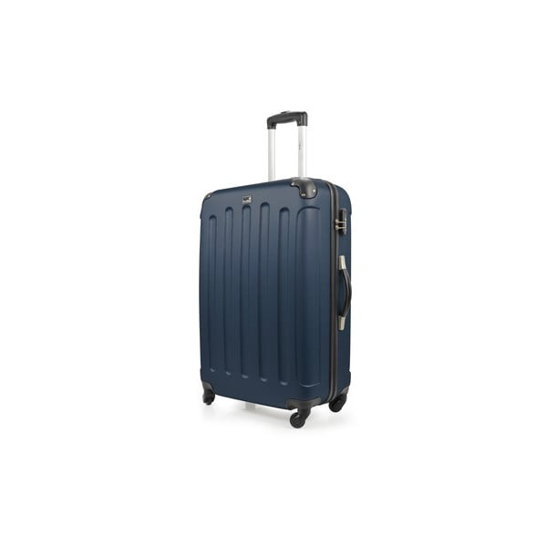 Niebieska walizka na kółkach Bluestar,114l