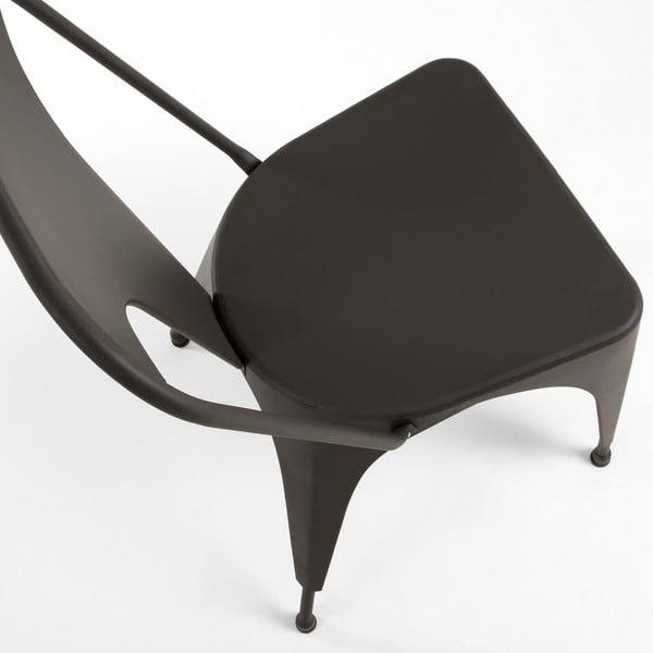 Krzesło Malibu, grafitowe