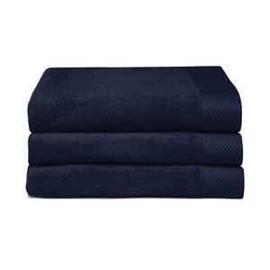 Zestaw 3 ciemnoniebieskich ręczników Seahorse Pure,60x110cm