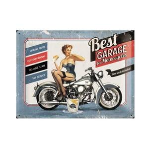 Blaszana tabliczka Best Garage, 30x40 cm