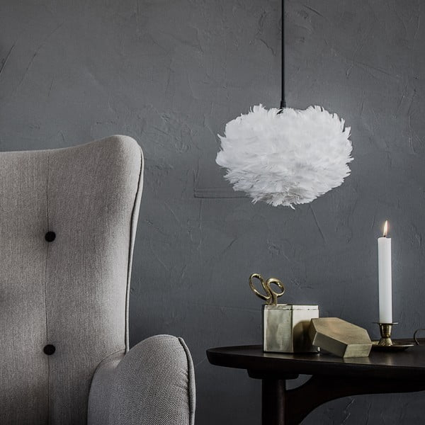 Biała lampa z gęsich piór VITA Copenhagen EOS, Ø16cm