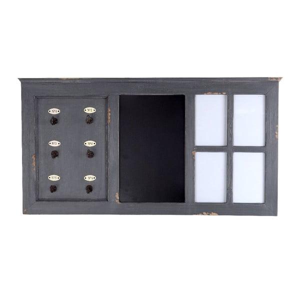 Wieszak na klucze z tablicą Grey, 88x46 cm