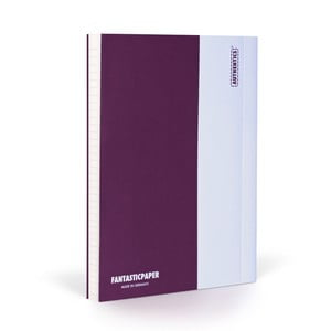 Notes FANTASTICPAPER A5 Aubergine/White, w linie