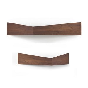 Sada 2 półek wielofunkcyjnych Woodendot Pelican Walnut M+L