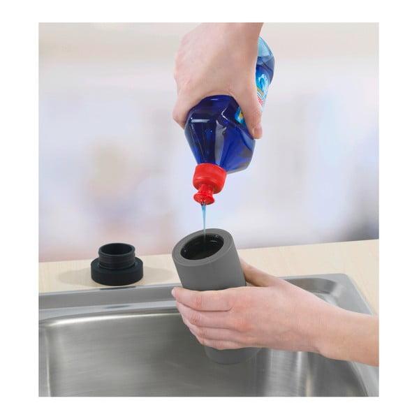 Szary dozownik płynu do naczyń Wenko Squeeze, 250 ml