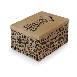 Brązowe pudełko Domopak Kraft, dł. 50 cm