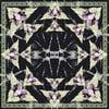 Wełniana chusta z dodatkiem kaszmiru Rama Black, 130x130 cm
