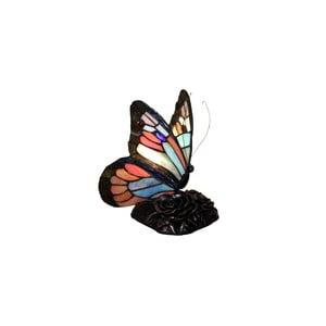 Lampka Tiffany Glass Butterflies Patina