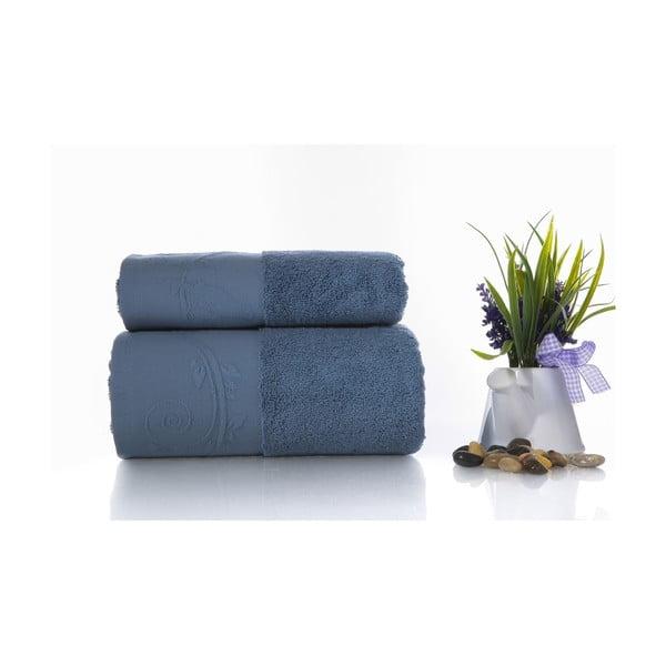 Zestaw 2 ręczników Indigo V2, 50x90 cm + 70x140 cm