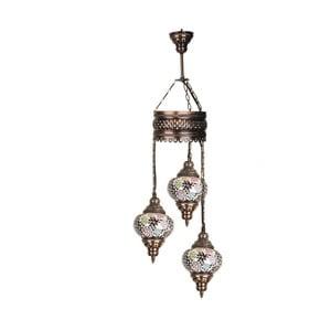 Szklana lampa wisząca Three XV, 13 cm