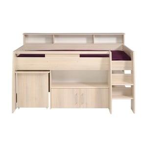 Wielofunkcyjne łóżko 1-osobowe w kolorze akacji Parisot Adelise, 90x200cm