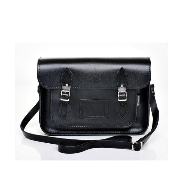 Skórzana torebka Satchel 29 cm, czarna