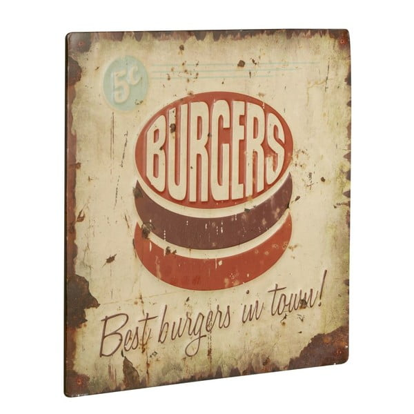 Tablica Burgers, 30x30 cm