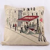 Poszewka na poduszkę Beige Cafe in Paris, 45x45 cm