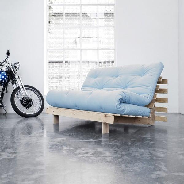 Sofa rozkładana Karup Roots Raw/Celeste