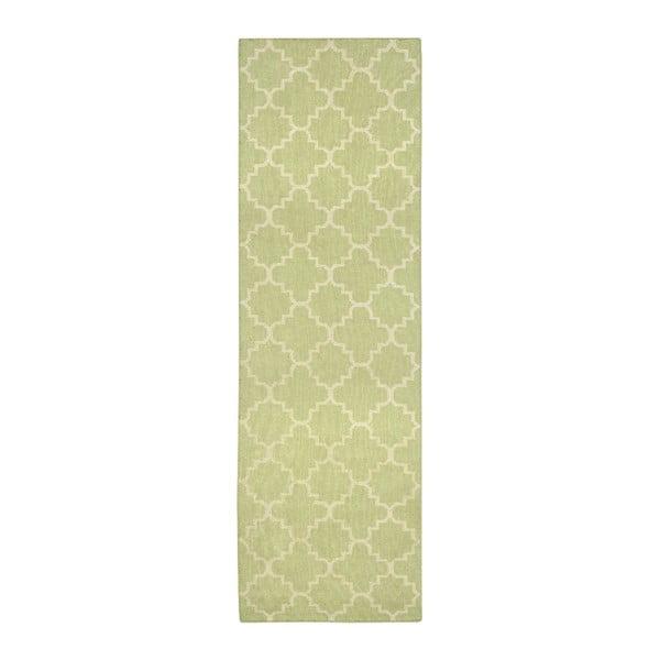Dywan wełniany Darien Lime, 76x182 cm