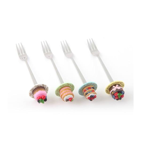 Zestaw 4 widelczyków deserowych Pyszności