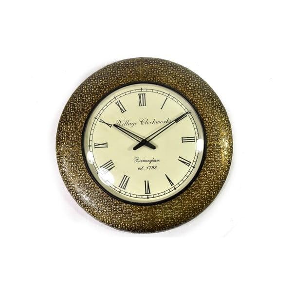 Zegar ścienny z kutego metalu Karnataka, 47 cm