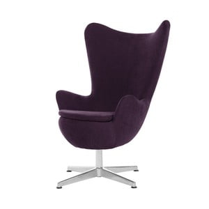 Fioletowy fotel obrotowy My Pop Design Vostell
