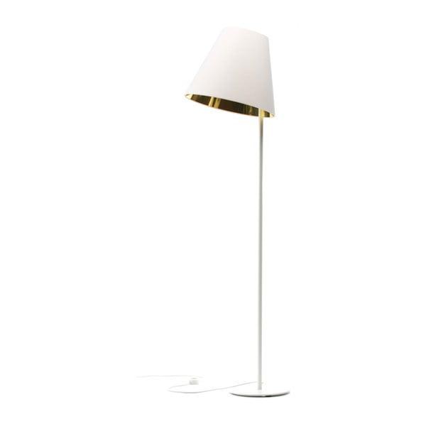 Biało-złota lampa stojąca 4room Book, 158 cm