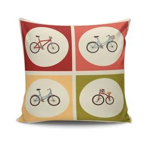 Poduszka z wypełnieniem Bikes no. 1, 45x45 cm