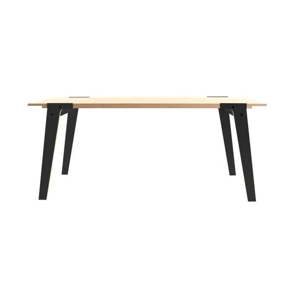 Czarny stół/biurko rform Switch, blat 200x90 cm