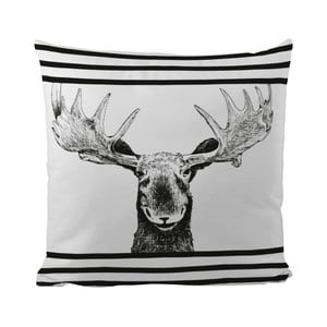 Poduszka Black Shake Smiling Moose, 50x50 cm