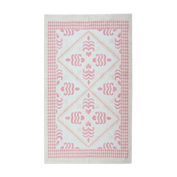 Jasnoróżowy dywan bawełniany Floorist Flair, 80x300cm