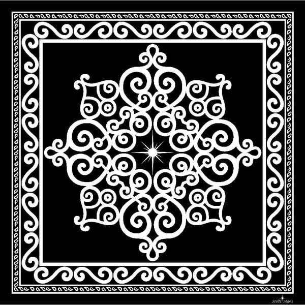 Jedwabna chusta Stella Maris Ornament