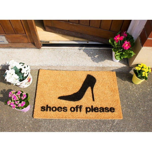 Wycieraczka Artsy Doormats Shoes Off Please, 40x60 cm