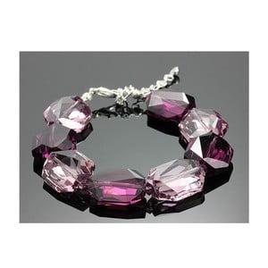 Bransoletka Swarovski Elements Large Drops Violet
