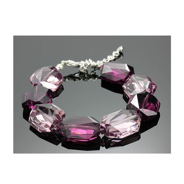 Bransoletka Swarovski Elements Large Drops Violet