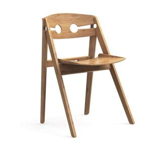 Krzesło do jadalni z bambusową konstrukcją We Do Wood