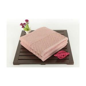 Zestaw 2 ręczników Kalp Dusty Rose, 50x90 cm