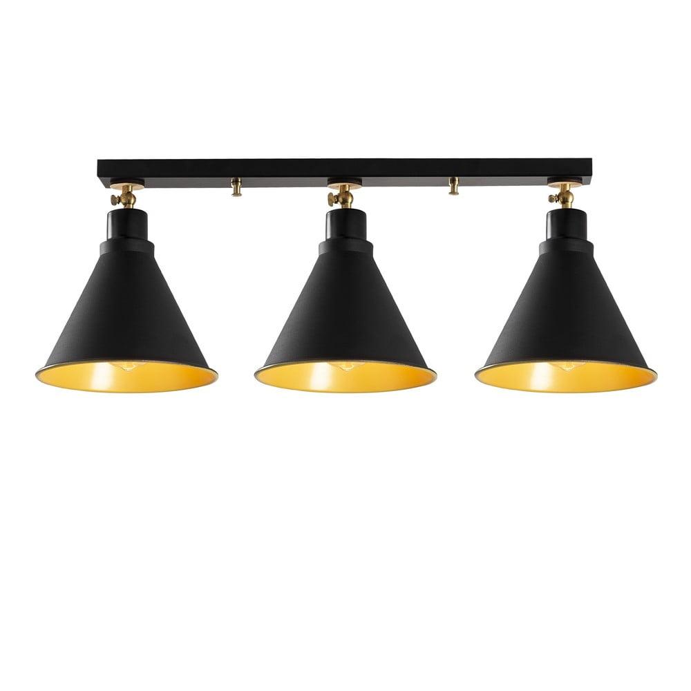Czarna lampa sufitowa z 3 kloszami Opviq lights Berceste Short